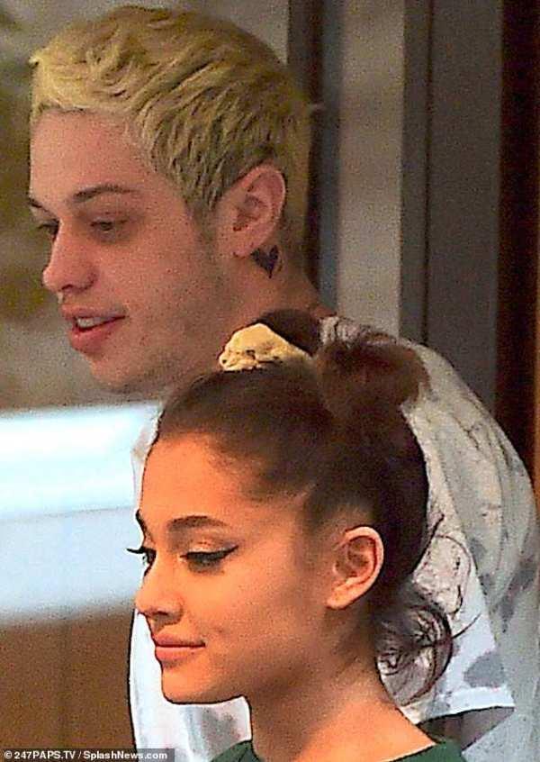 Pete Davidson covers up Ariana Grande bunny ears tattoo ...