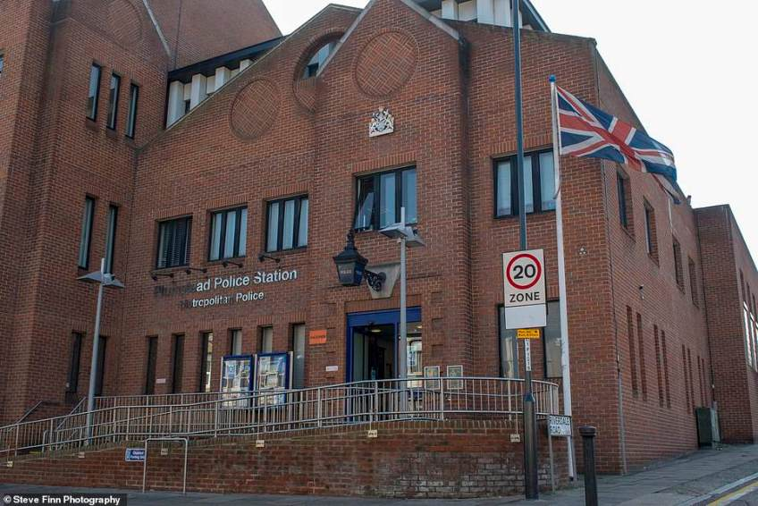 Ongoing: Katie is still thought to be being held at Plumstead police station following the crash