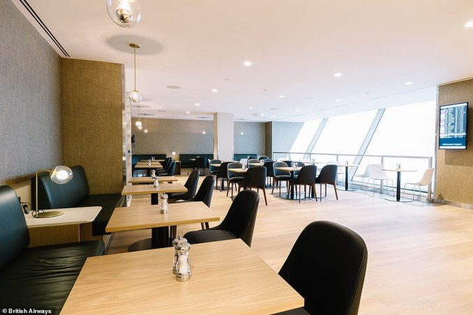 The brand new first class lounge is 60 per cent larger than its predecessor - it covers more than 5,480 square feet