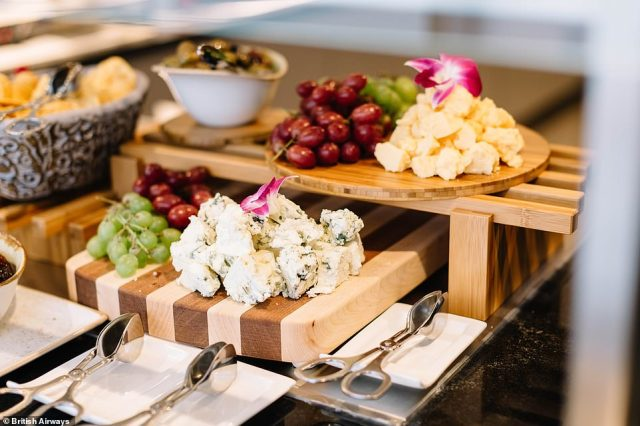 The food on offer in the Terminal 7 lounge has been given an upgrade with passengers able to enjoy light snacks before they travel