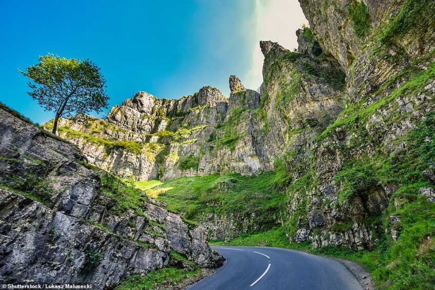 The B3135meanders through the rolling Mendip Hills through Somerset and it's no wonder it has been revealed as the most pleasant to cruise along