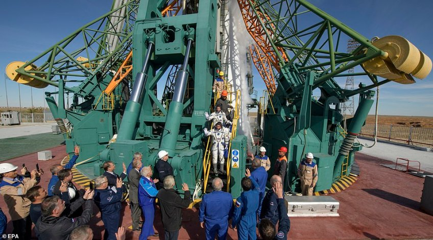 The two astronauts had been intended to carry out a six-month mission to the International Space Station which was discovered to be damaged last month. Russia claimed a hole had been drilled in the station prompting a dangerous drop in pressure which could have killed the astronauts on board