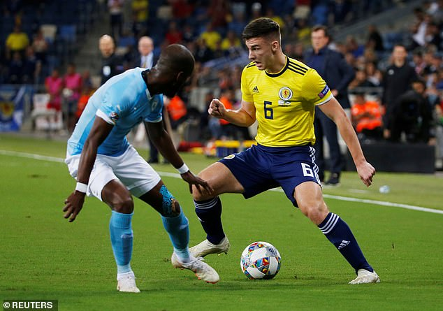 Kieran Tierney fills in at left centre-back after McLeish's decision to go for a three-man defence