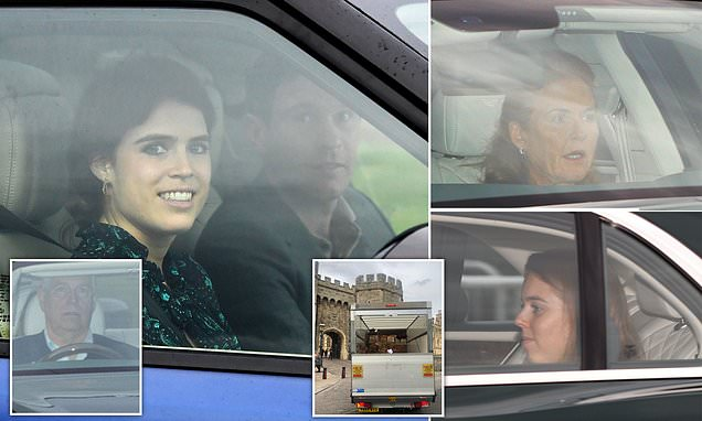 Princess Eugenie and Jack Brooksbank arrive at Windsor Castle
