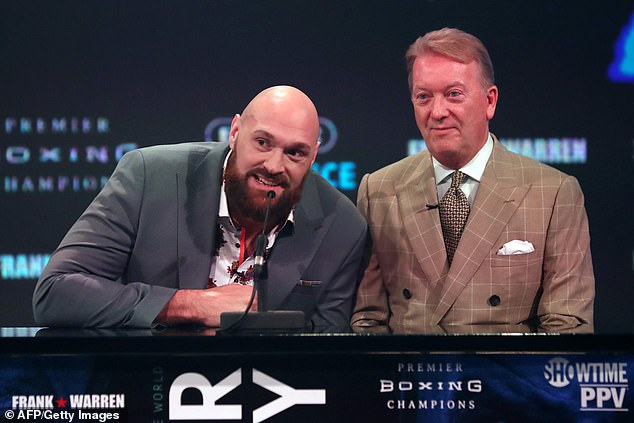 His promoter Frank Warren (R) said the MSAC failed to apply the WADA code to the test results
