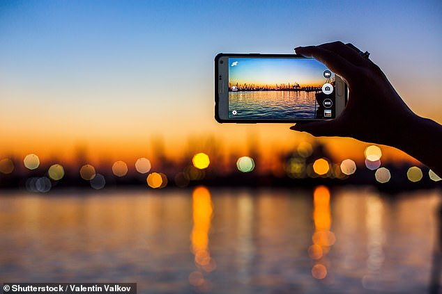 The device captures images at 10 trillion frames a second. For comparison,  the average smartphone camera captured around 30 per second (stock image)