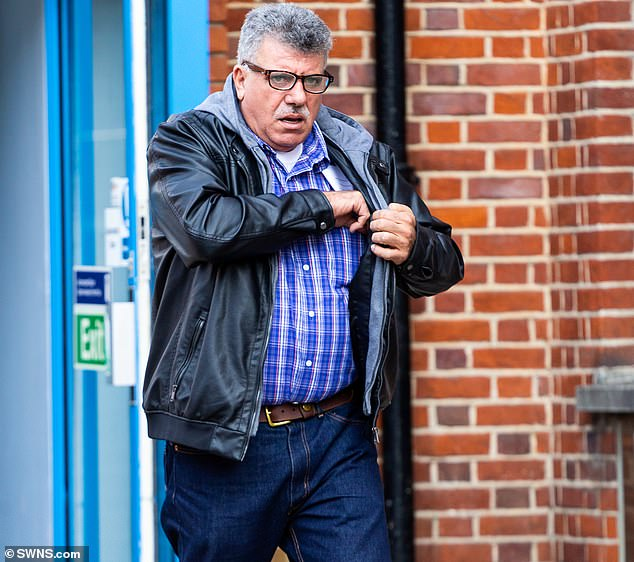 A grandfather-of-25 who marched through a packed plane with his genitals exposed before slapping a senior US TV executive has been spared jail