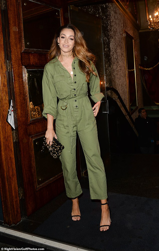 Military chic: Liam Payne's ex Danielle Peazer looked cool in a khaki boiler suit
