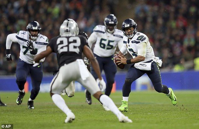 Russell Wilson was in imperious form for the Seattle Seahawks as they beat Oakland Raiders