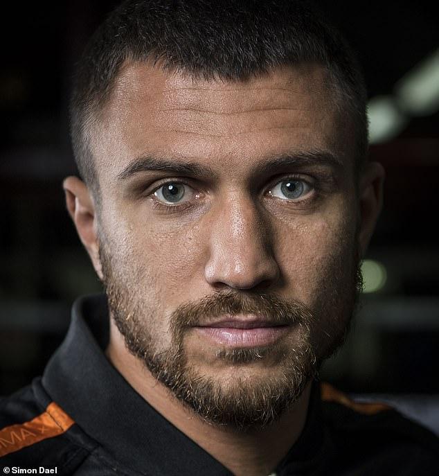 Vasily Lomachenko poses for Sportsmail's Simon Dael in London's Fitzroy Lodge gym