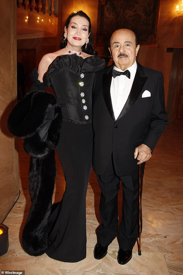 Adnan Khashoggi and his wife attend 'The Best ' Awards 2009 at Salon Hoche on December 14, 2009 in Paris