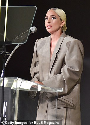 Kind words: Gaga said ' I tried to memorise this speech because it's so beautiful but you give me hope, thank you Jennifer for that beautiful introduction, you're an inspiration to so many'