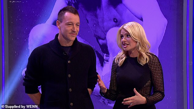 Pals: John, who is married to model, Toni Terry, 38, has been friends with Holly for years, with the pair working alongside each other on comedy sports panel show, Play to the Whistle
