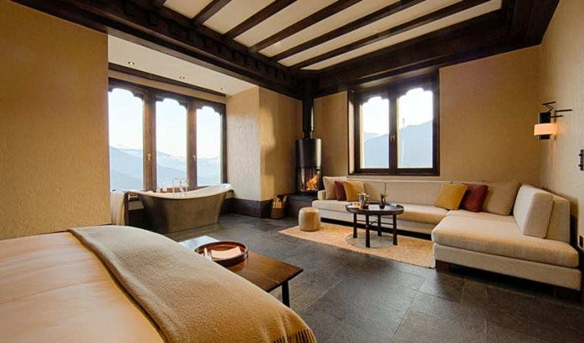 Gangtey Lodge's remote location and stunning design in the heart of Bhutan allows, says Black Tomato, one to take a step back in time, away from the stresses and distractions of modern day life