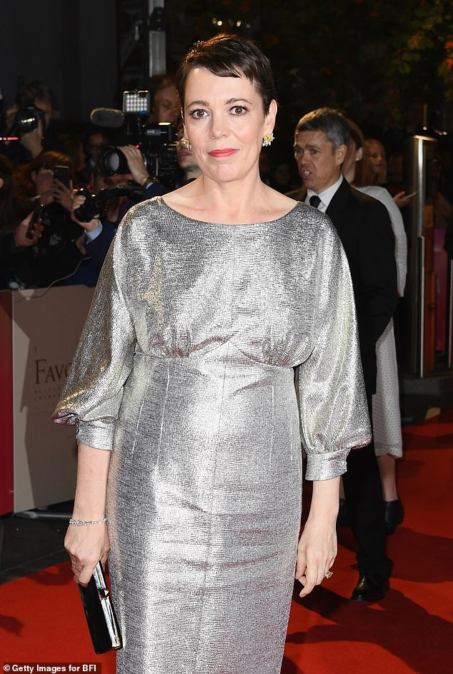 Check her out: The star looked divine when she made her arrival at the UK premiere of the film The Favourite at the BFI London Film Festival