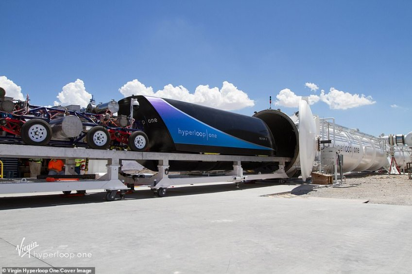 The firm has tested pods on its test track at low speeds
