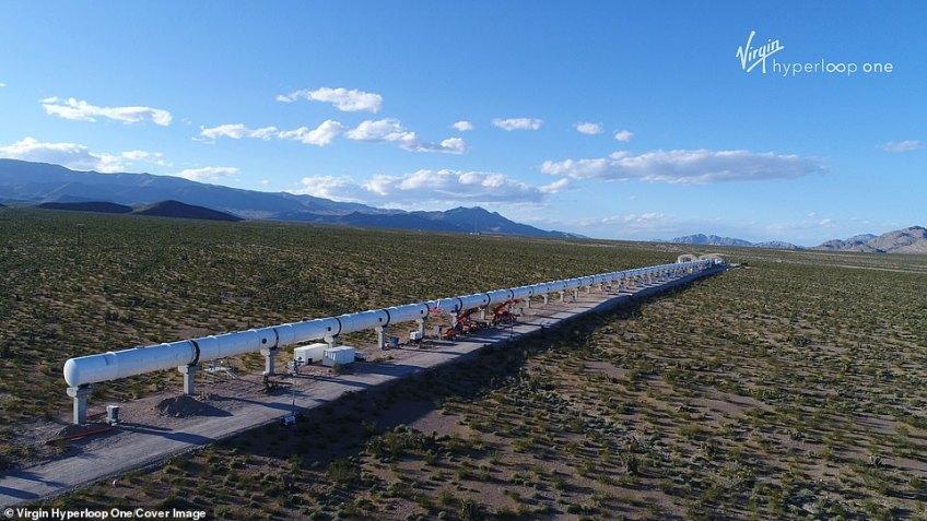 Virgin Hyperloop One already has a working demo track in Nevada