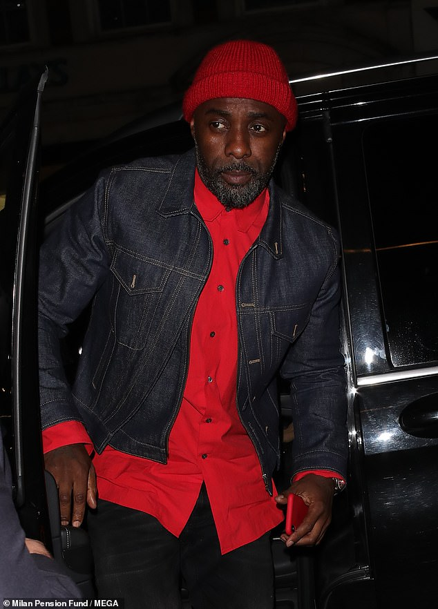 Check him out: A handful of stars made their way to the designer bash including tipped 007 actor Idris Elba as well as VOGUE cover girl and model of the moment Adwoa Aboah