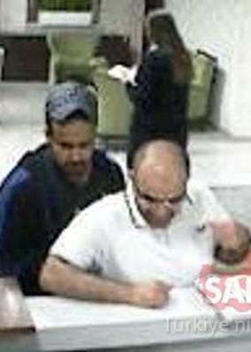 Mansur Othman M. Abahüseyin andBadr Lafi M. Alotaibi passing through border control on Tuesday last week