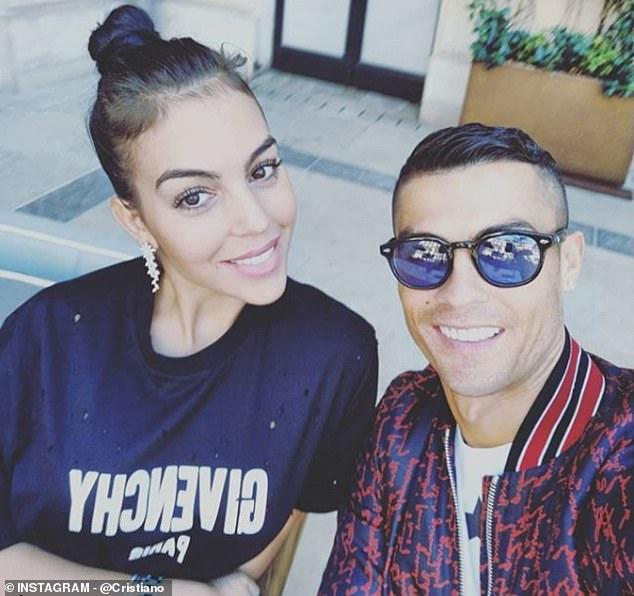 Cristiano Ronaldo was all smiles alongside girlfriend Georgina Rodriguez on Instagram today