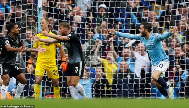 Silva took advantage of Burnley switching off as he converted as the visitors protested to the referee about a decision