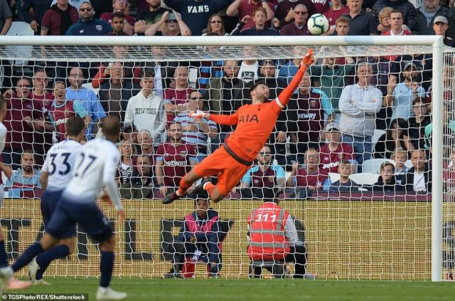 Hugo Lloris had to be at his best to deny West Ham from scoring a number of opportunities throughout the game