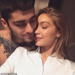 Gigi Hadid and Zayn Malik in loved up photo