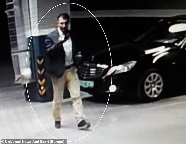 A car belonging to the Saudi consulate in Istanbul was found in the Sultangazi district of the city today. Pictured is the man thought to have dumped the car