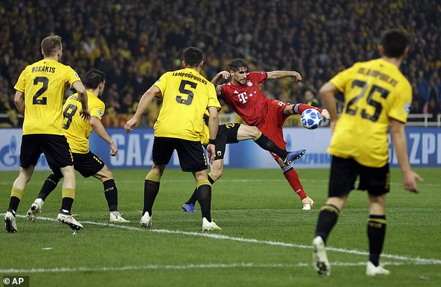 Bayern struck twice in three minutes with Javi Martinez giving them the lead