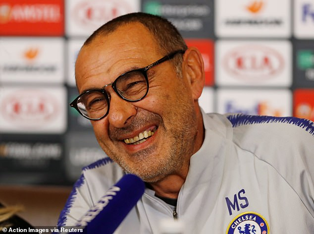 Maurizio Sarri revealed the news at his pre-Cobham briefing on Tuesday