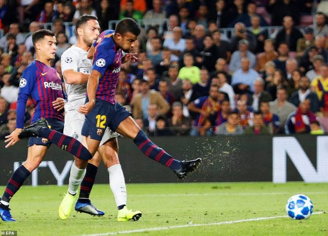 Rafinha is familiar with the opposition having spent time out on loan with Inter but he made them pay in the first half