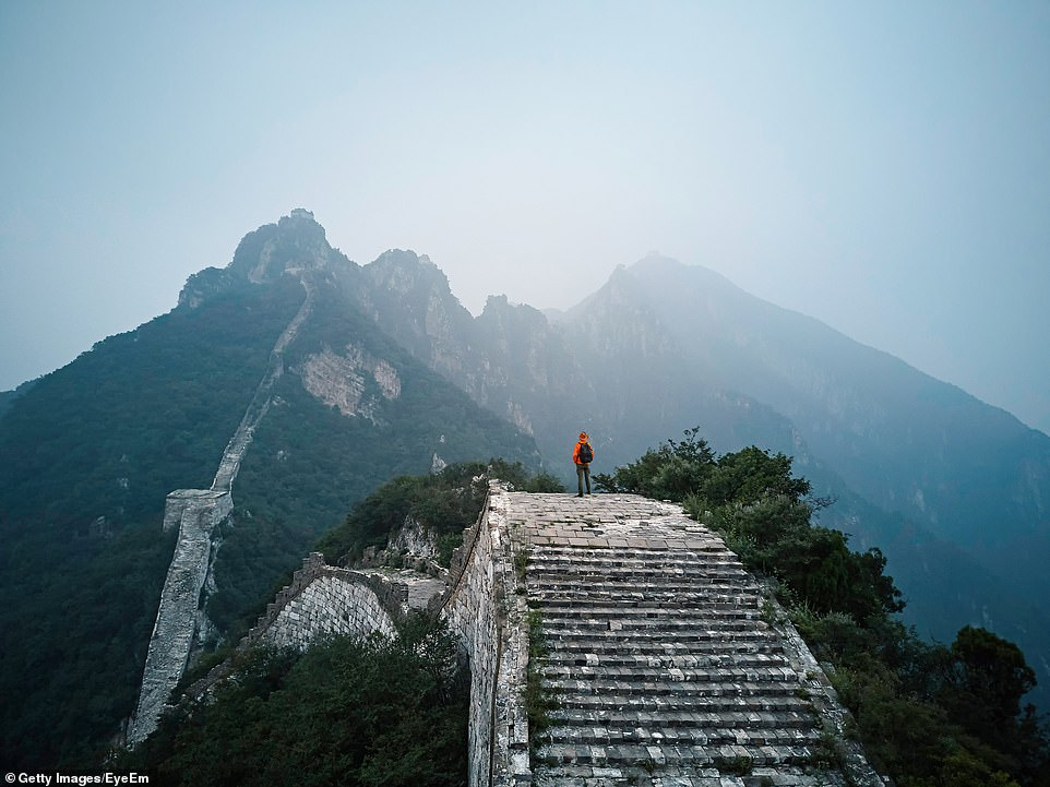 The Great Wall of China is estimated to stretch over 13,000 miles across China. It attracts 10 million visitors every year