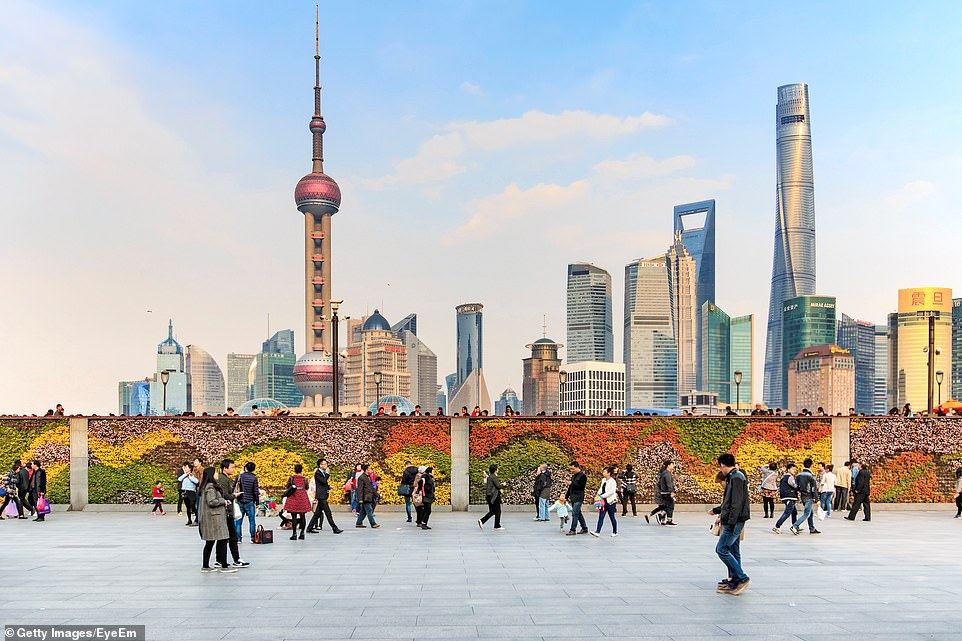 The 1,535-meter Oriental Pearl Tower (left) dominates the skyline of Shanghai. Until 2007, it was the tallest structure in China