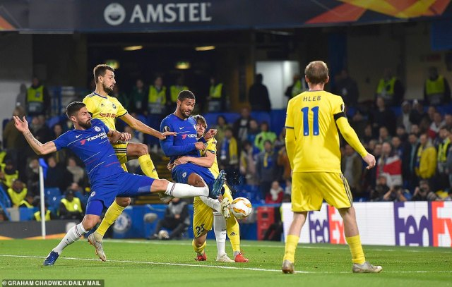 Loftus-Cheek got the final touch on the ball to double Chelsea's advantage inside 10 minutes and set them on course to a win