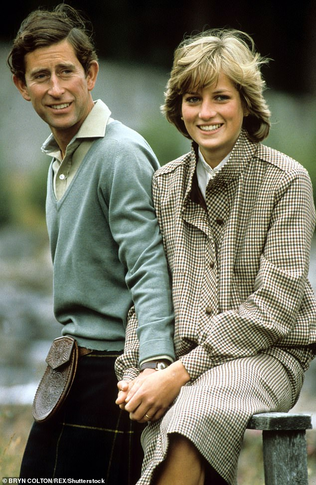 Prince Charles and Princess Diana in the grounds of Balmoral Castle in Scotland after their wedding