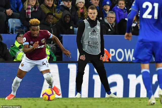 Main striker Jamie Vardy started the contest from the bench after being dropped by Puel as he looked to assert his authority