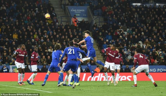Leicester pressure was relentless and they were almost level when defender Harry Maguire headed against the crossbar