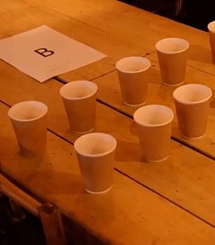 """The volunteers described the tea from Table B as """"bland"""""""