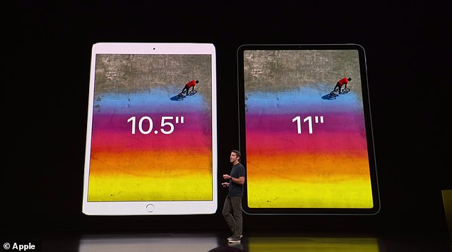 There are two models: one with an 11-inch screen and a larger version with a 12.9-inch display. Both models have an LTE network configuration and are 5.9mm thin.