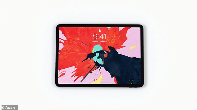 Face detection is supported by advanced cameras and sensors housed in a flat bezel on top of the screen. Users can also unlock the face ID by holding the iPad Pro horizontally
