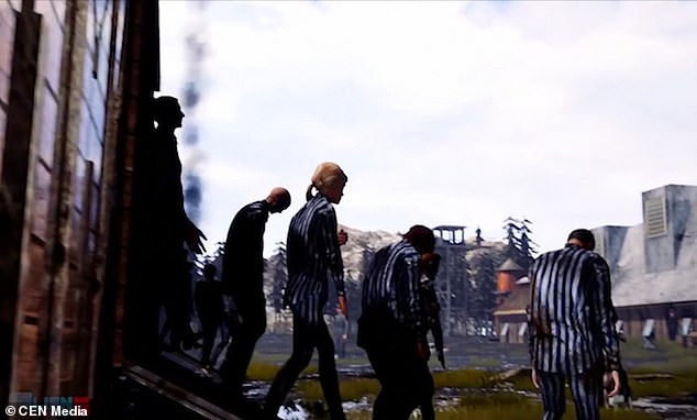 In an online trailer, the game shows prisoners wearing the blue-and-white striped clothing typical of concentration camps