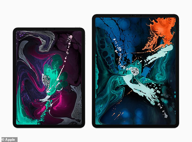 The iPad Pro has a thinner bezel, a large screen and a new technology like Face ID, the face recognition technology from Apple that allows users to unlock the device with their faces