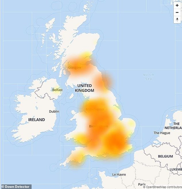 Virgin Media customers across much of the UK report that their broadband service is currently unavailable. Many unfortunate users across the country, including parts of Birmingham, London and Manchester, have used social media to clarify their grievances