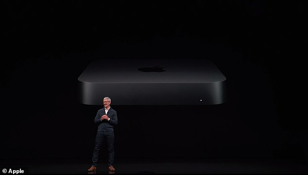 """CEO Tim Cook described the redesigned Mac Mini as """"small but powerful Mac users have been waiting."""" The device was unveiled on Tuesday at the company's hardware event in Brooklyn"""