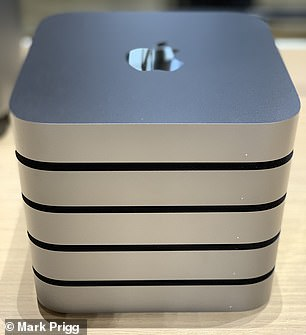 Power users can stack the Mac Mini together to create extremely powerful systems