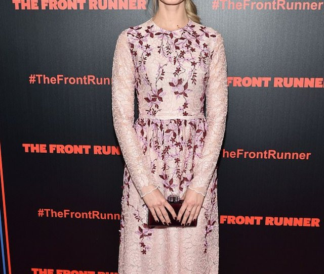 Sara Paxton Bedazzles In Long Sleeved Pink Floral Print Dress At The Front Runner Premiere In Nyc