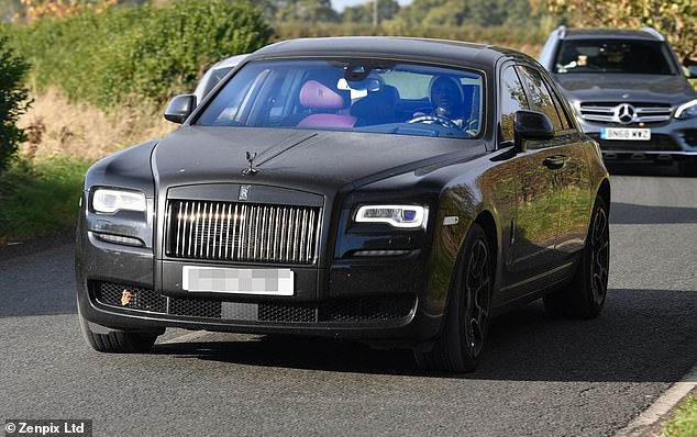It was a case of samesies for Romelu Lukaku and Marcus Rojo, each in a black Rolls-Royce