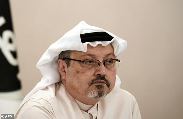 Murdered: Journalist Jamal Khashoggi, pictured, was strangled as soon as he entered the Saudi Consulate in Istanbul nearly one month ago, as part of a premeditated killing