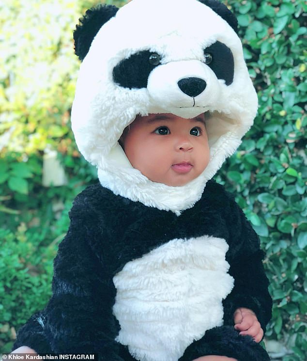 Another look: True was also wearing a panda outfit that was simply adorable