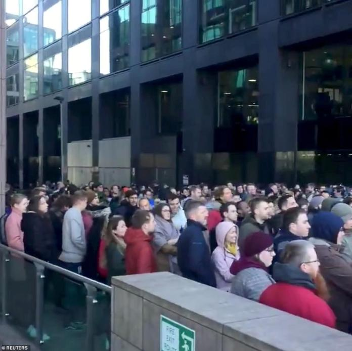 Following Rubin leaving Google four years ago in 2014 to create Playground Global, a sexual assault claim was reported to Google's human resources department and subsequently an investigation was opened; Employees are seen here staging for their walkout outside of Google offices in Dublin, Ireland on Thursday